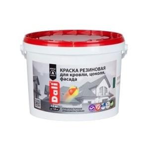 Краска фасадная DALI 12кг Резиновая черный (44) 12,45кг