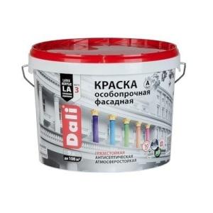 Краска фасадная DALI 9л Особопрочная база А белая (44) 13,649кг