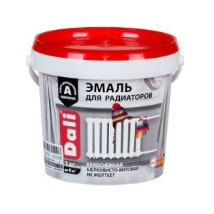 Эмаль для радиаторов акриловоя DALI 1кг белая (6)