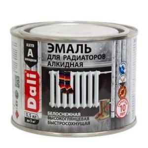 Эмаль для радиаторов алкидная DALI 0,5кг белая (6)