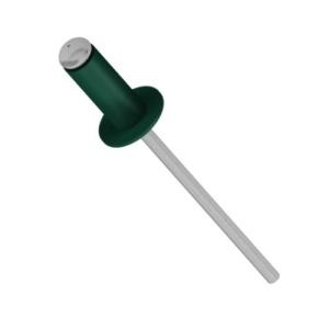 Заклепка вытяжная 4,8х12 мм, цвет RAL 6005 тёмно-зелёный (1шт)