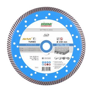 Алмазный отрезной круг Distar Turbo Extra Max 5D, 230 мм, по бетону