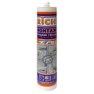 Жидкие гвозди Rich Монтаж Морозостойкий для всех типов профилей 310 мл