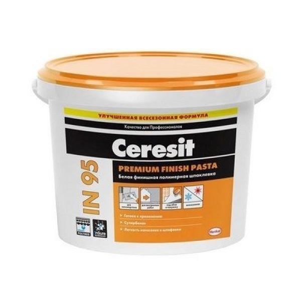 Шпаклевка финишная Белая Ceresit СТ 95 Finish Pasta 5 кг