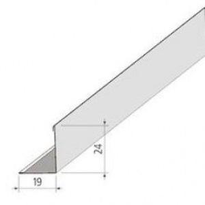 Уголок пристенный L=3м 19x24мм (белый)