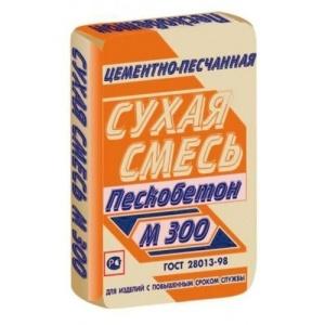 Пескобетон м-300 сухая смесь (40 Кг.)