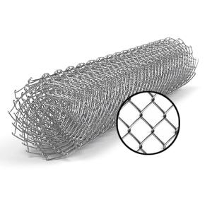 Сетка рабица 2х10 м, ячейка 50х50 мм, 1.5 оцинкованная
