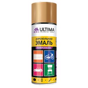 Краска аэрозольная универсальная Ultima, 520 мл, Латунь мет с метал.эффектом